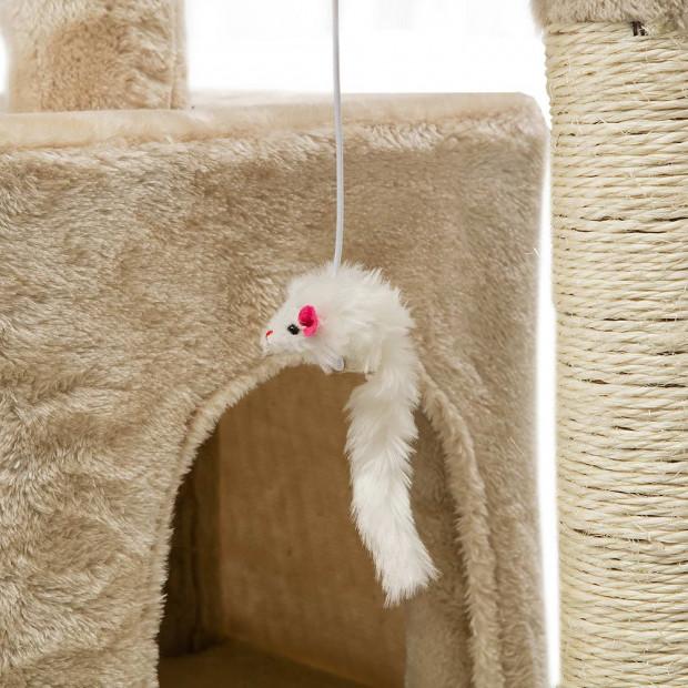 i.Pet 180cm Multi Level Cat Scratching Post - Beige Image 9