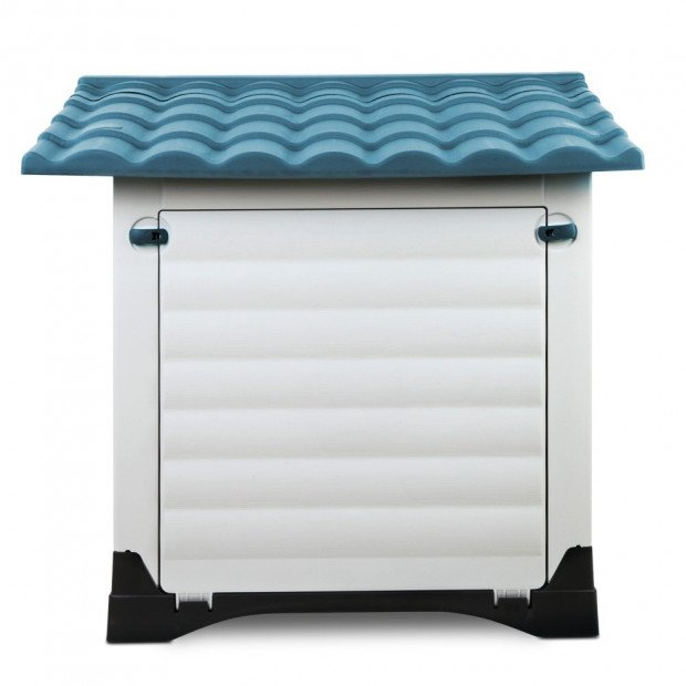 Large Weatherproof Pet Kennel - Blue Image 4