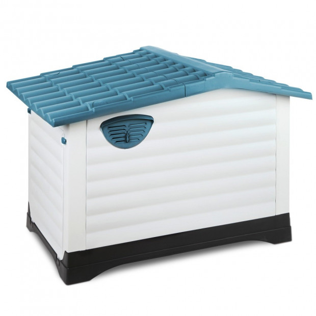 Large Weatherproof Pet Kennel - Blue Image 5