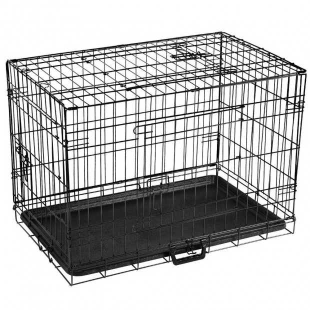 30inch Foldable  Pet Cage - Black Image 9