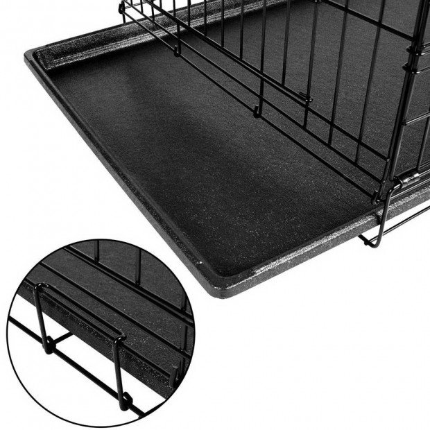 30inch Foldable  Pet Cage - Black Image 7