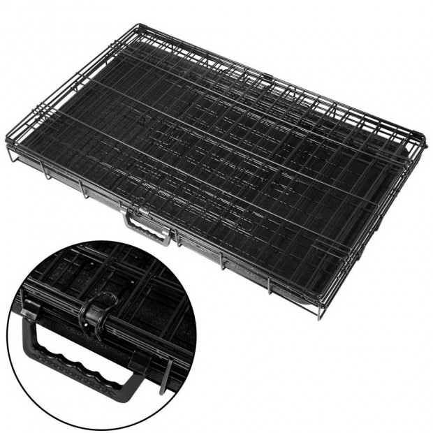 30inch Foldable  Pet Cage - Black Image 5