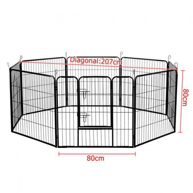 80 x 80cm Pet Play Pen - Black Image 3