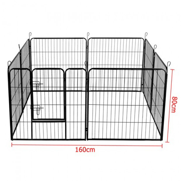 80 x 80cm Pet Play Pen - Black Image 4