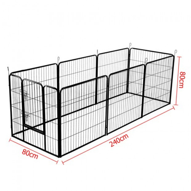 80 x 80cm Pet Play Pen - Black Image 6