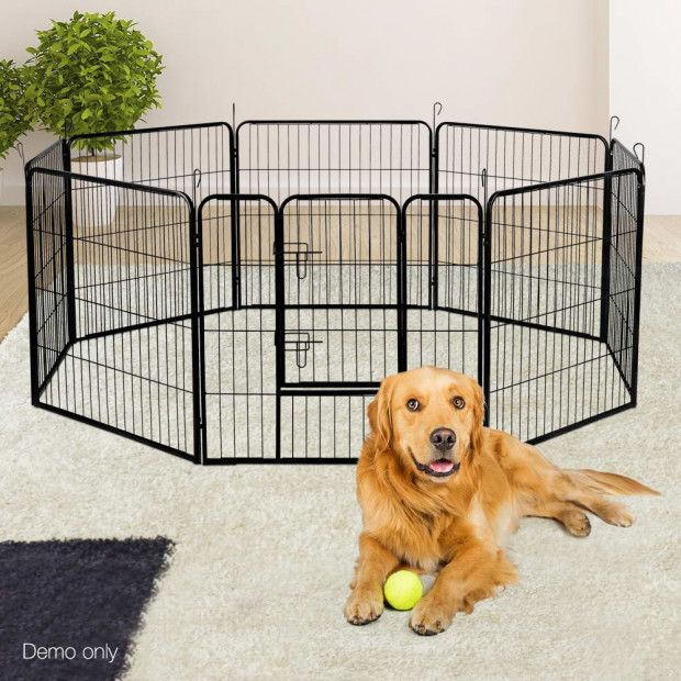 80 x 80cm Pet Play Pen - Black Image 9