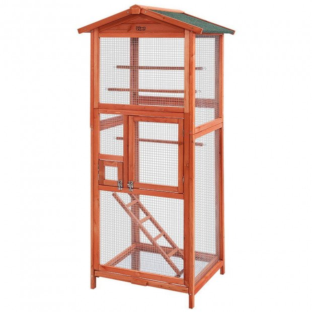 Bird Cage Wooden Pet Cages Aviary Large Carrier Travel  XL