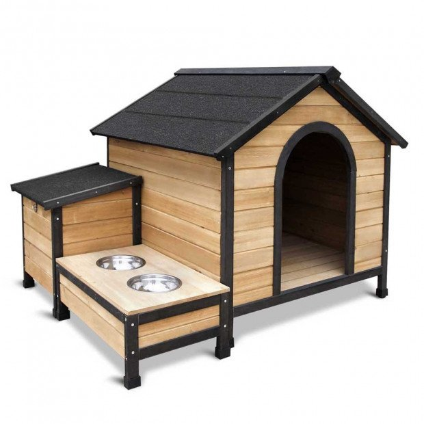 Extra Large Wooden Pet Kennel with Storage