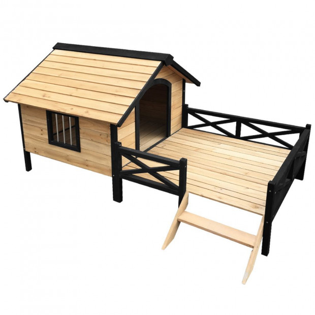Dog Kennel Kennels Outdoor Wooden Pet House  Extra Large XXL Outside