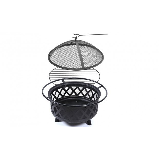 Outdoor Fire Pit Bbq Portable Camping Fireplace Heater Patio Garden Grill Image 3