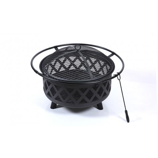 Outdoor Fire Pit Bbq Portable Camping Fireplace Heater Patio Garden Grill Image 4