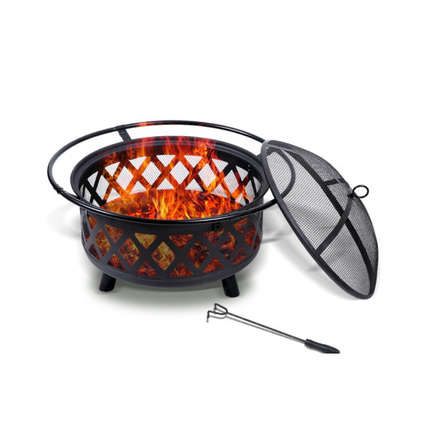 Outdoor Fire Pit Bbq Portable Camping Fireplace Heater Patio Garden Grill Image 1