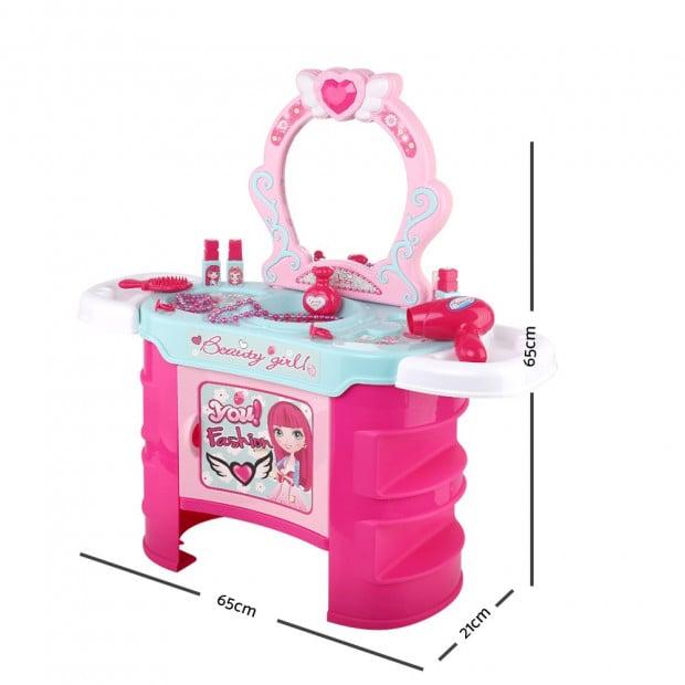 Kids Makeup Desk Play Set - Pink Image 1