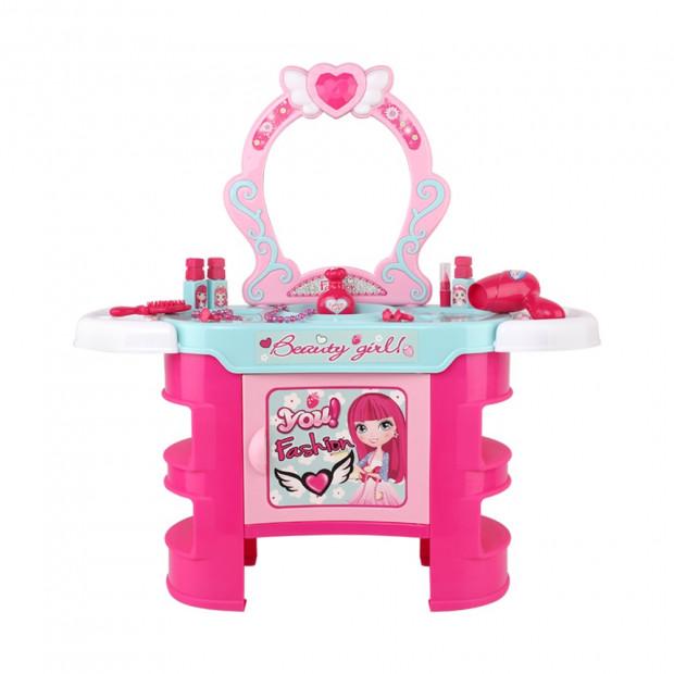 Kids Makeup Desk Play Set - Pink Image 2