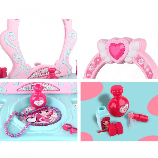 Kids Makeup Desk Play Set - Pink Image 7