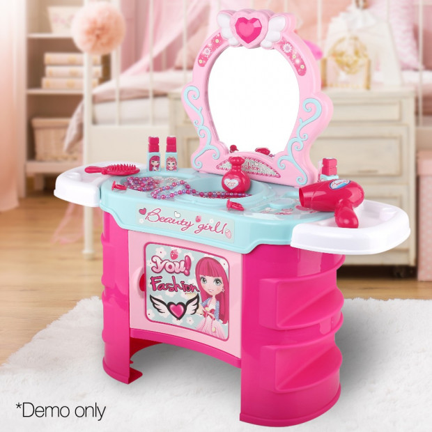 Kids Makeup Desk Play Set - Pink Image 9