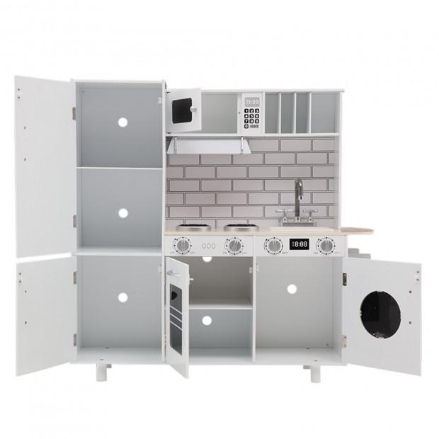 Keezi Wooden Kitchen Pretend Play Set Style A Image 3
