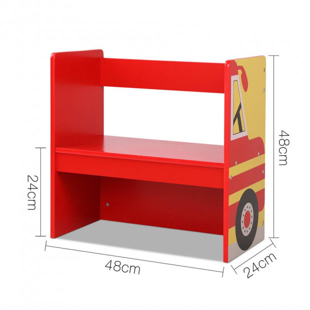 Kids Fire Truck Table & Chair Set Image 4