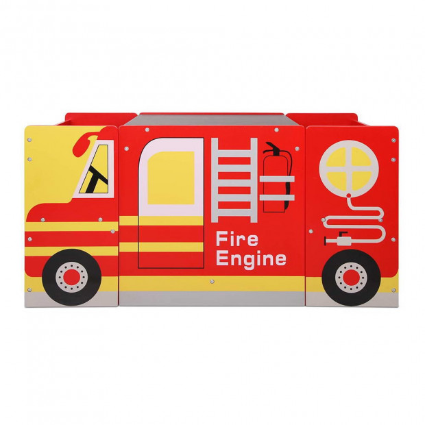 Kids Fire Truck Table & Chair Set Image 5