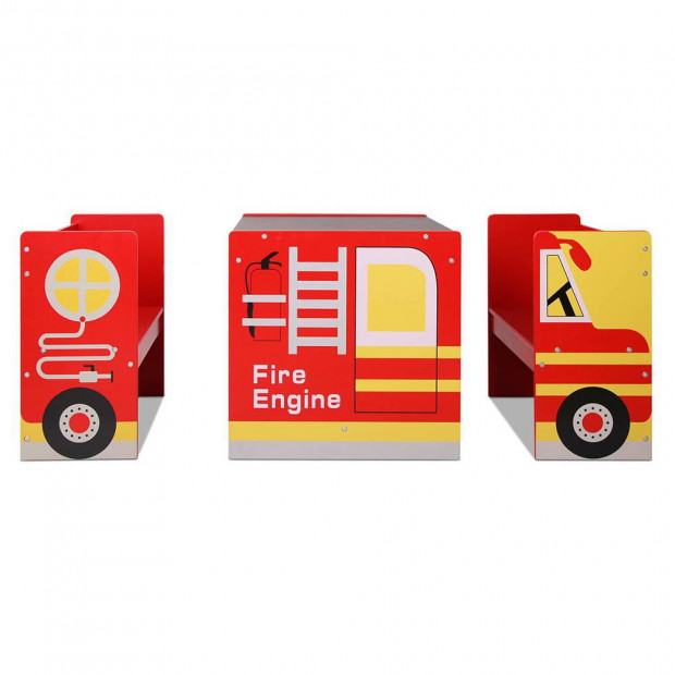 Kids Fire Truck Table & Chair Set Image 6