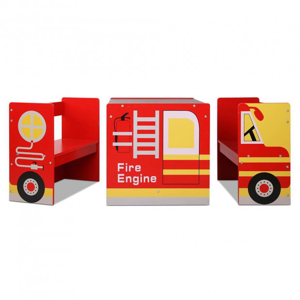 Kids Fire Truck Table & Chair Set Image 7
