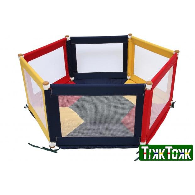 TikkTokk POKANO Fabric Playpen & Mat - HEX Colourful