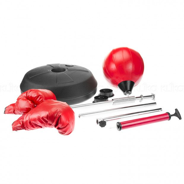 Free Standing Boxing Speed Ball Gloves Set Image 1