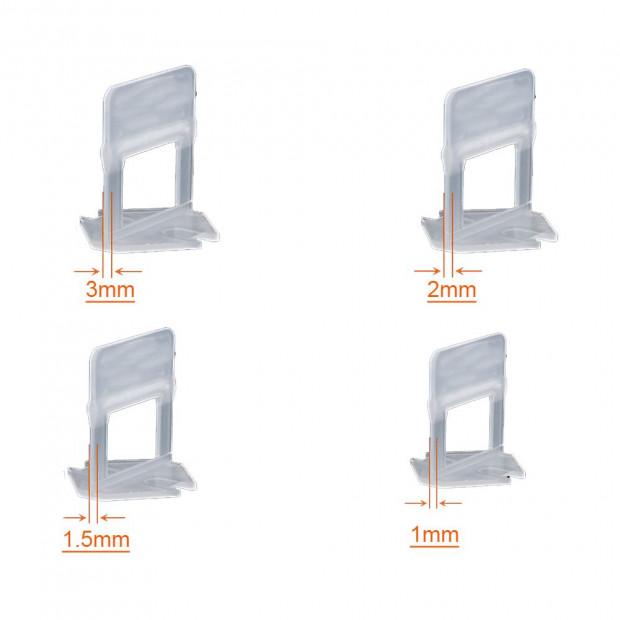 400x 3MM Tile Leveling System Clips Levelling Spacer Tiling Tool Floor Image 3
