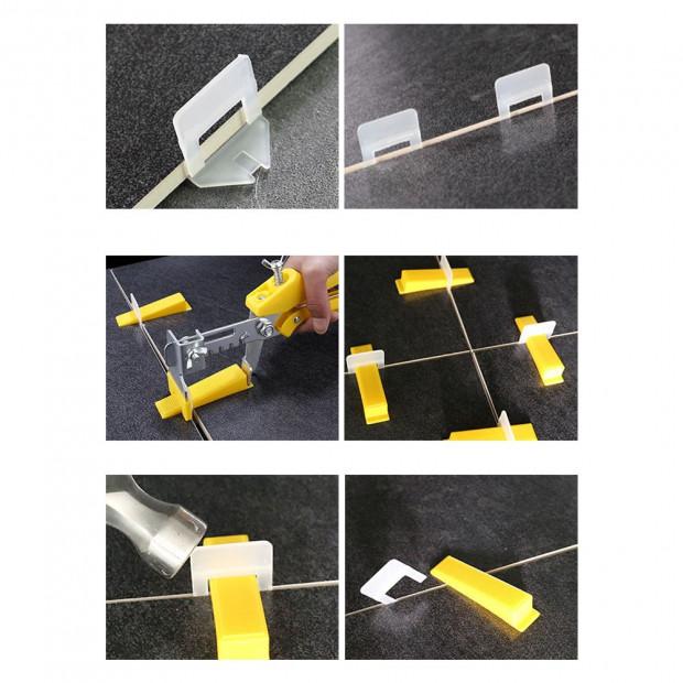 800x 1.5MM Tile Leveling System Clips Levelling Spacer Tiling Tool Image 1