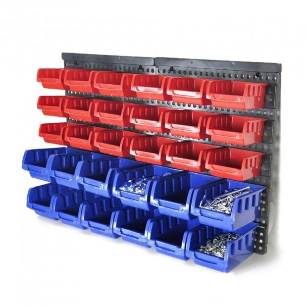 30 Tool Small Parts Storage Bins Shelving Organiser Box Rack Garage