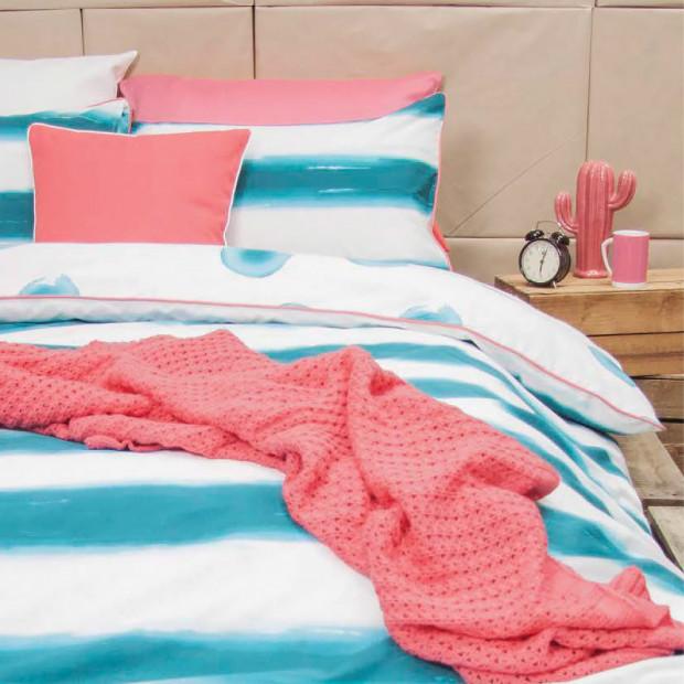 Mizu - Turquoise Reversible Quilt Cover Set 100% Cotton