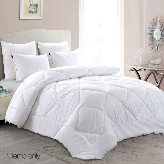 Giselle Bedding Queen Size 700GSM Bamboo Microfibre Quilt Image 7