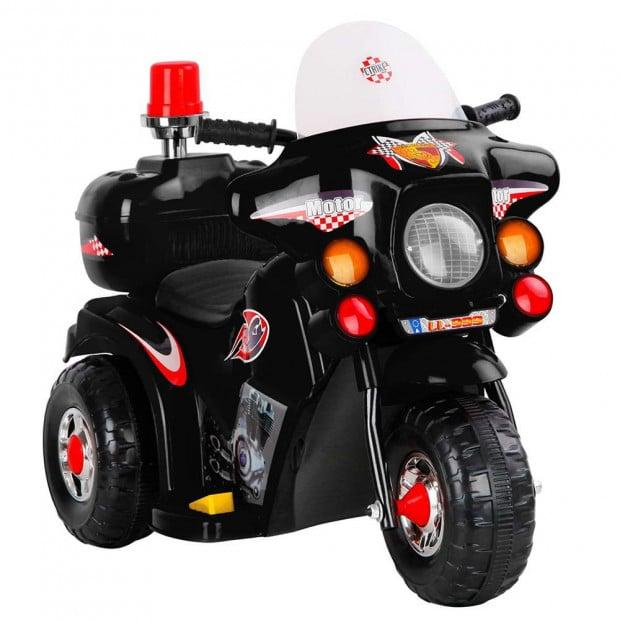 Kids Ride On Police Motorbike - Black