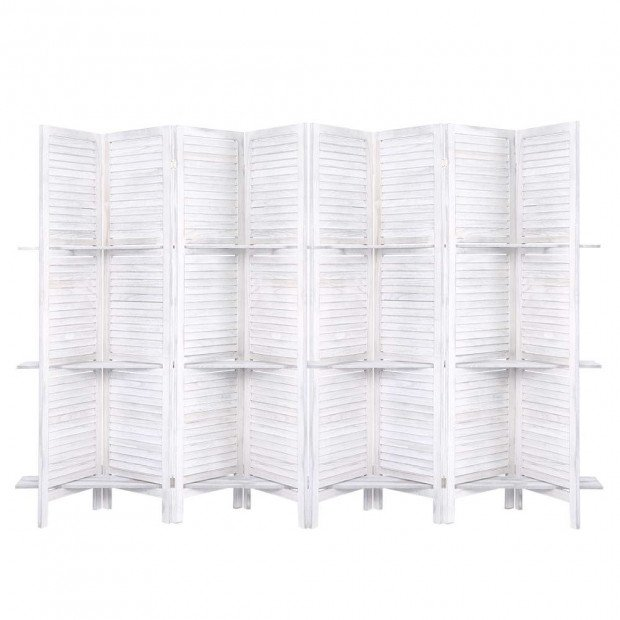 Room Divider Screen 8 Panel Privacy Foldable Dividers Timber Stand