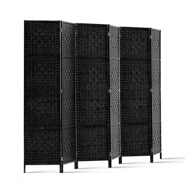 6 Panel Folding Room Divider - Black