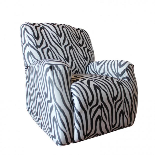 Sure Fit Recliner Pearson Cover - Zebra