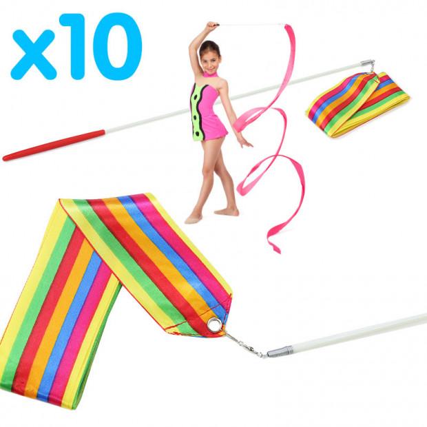 10x Rhythmic Gymnastic Ribbons