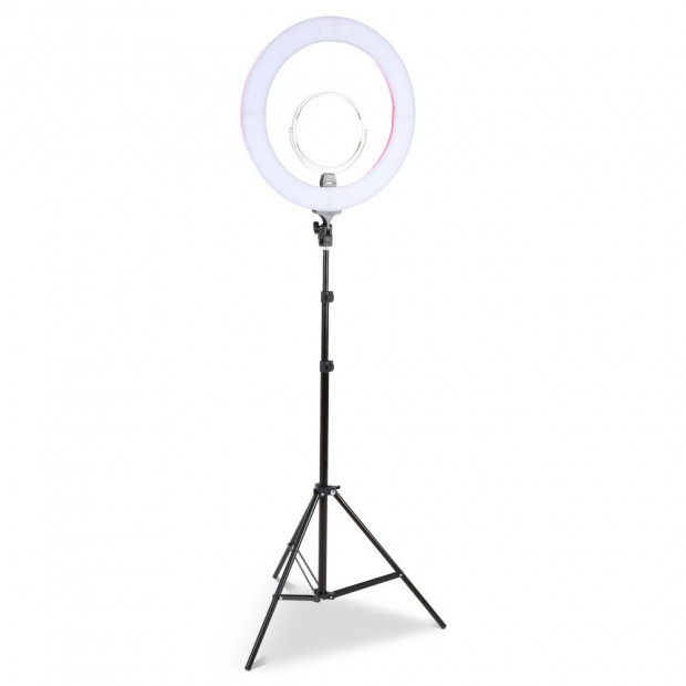 19 Inch LED Ring Light - Pink Image 1