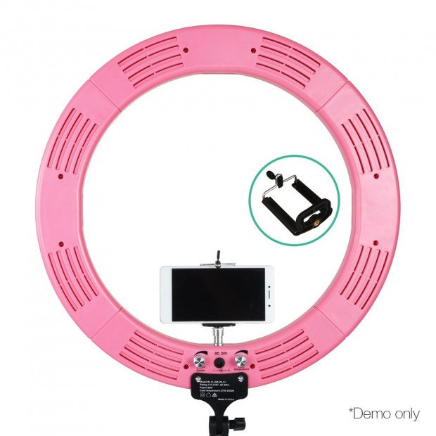 19 Inch LED Ring Light - Pink Image 4