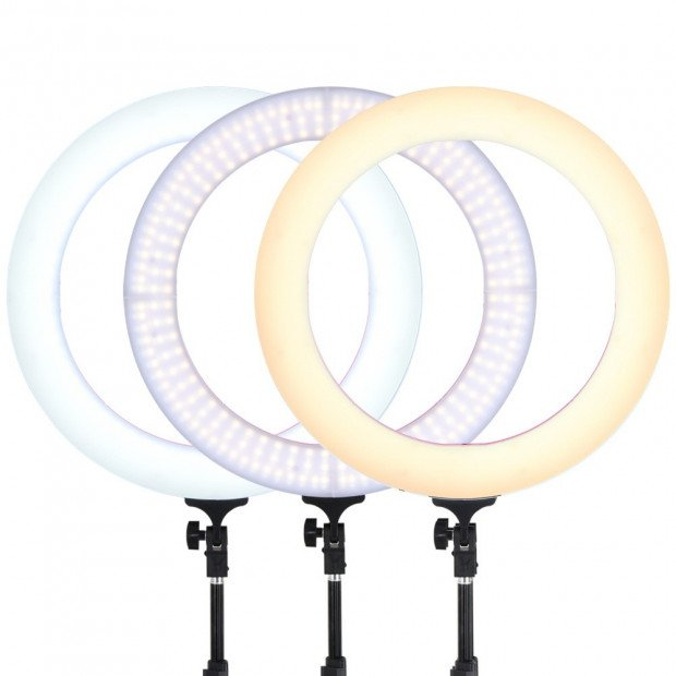 19 Inch LED Ring Light - Pink Image 5