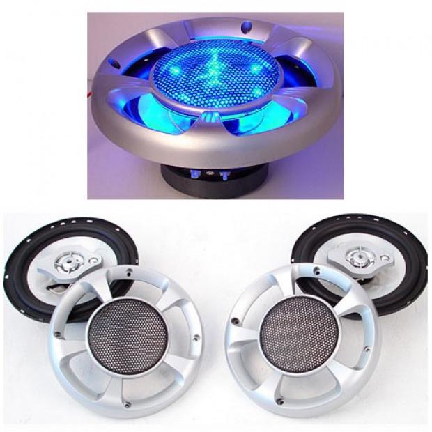 Set of 2 6.5inch LED Light Car Speakers Image 1