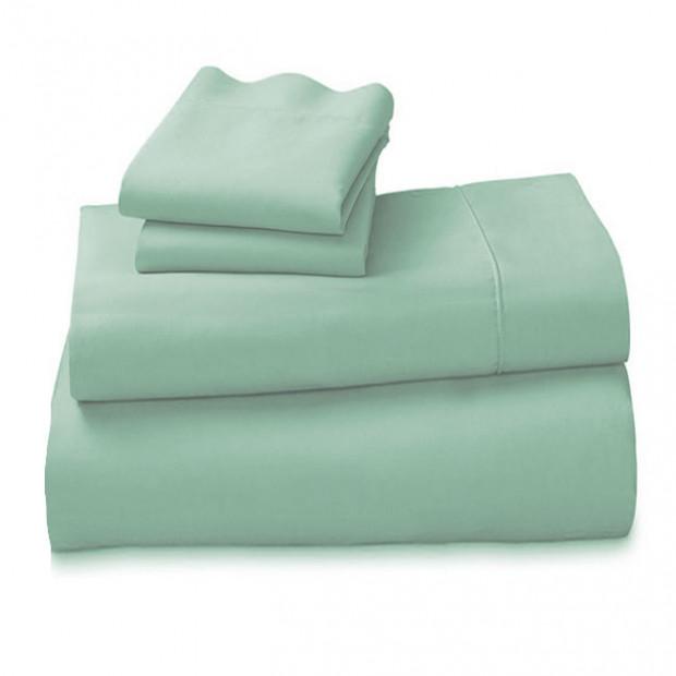 1000tc Cotton King Piece Sheet Set - Sage