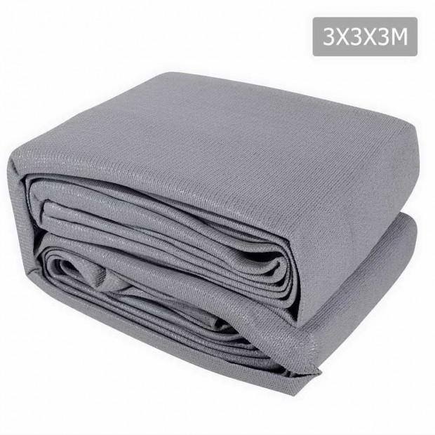 3 x 3 x 3m Triangle Shade Sail Cloth - Grey