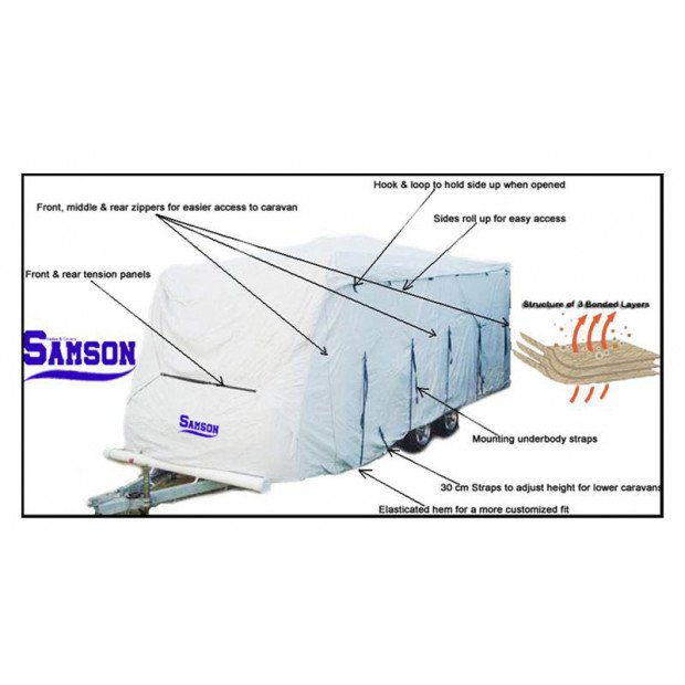 Samson Heavy Duty Caravan Cover 16-18ft Image 3