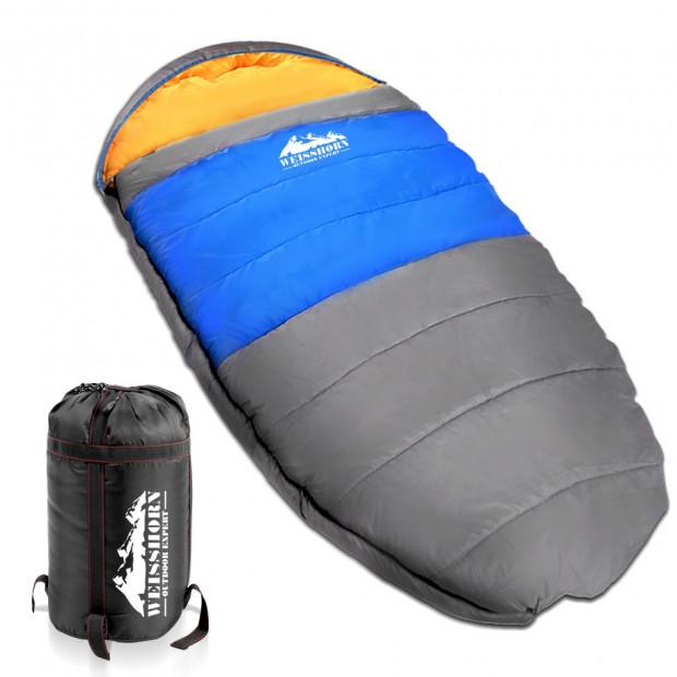 Camping Thermal Sleeping Bag King Blue