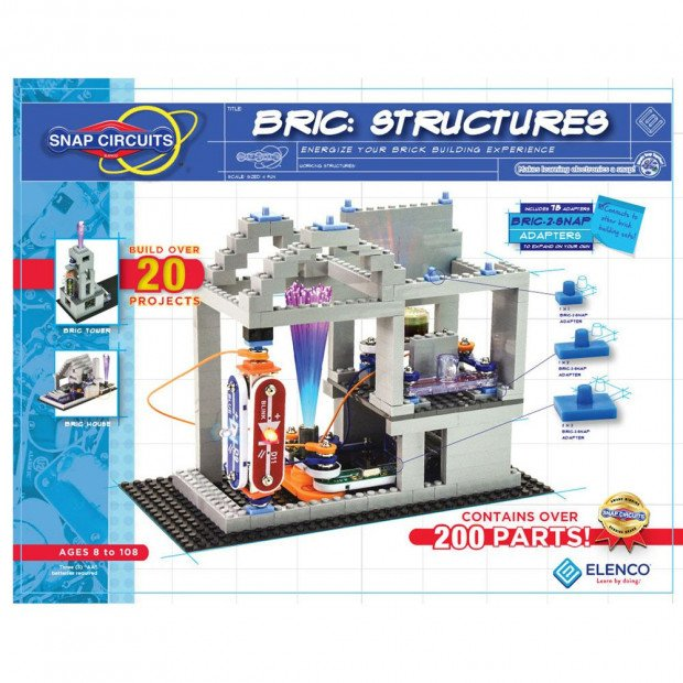 Kids Learning Snap Circuits BRIC Structures