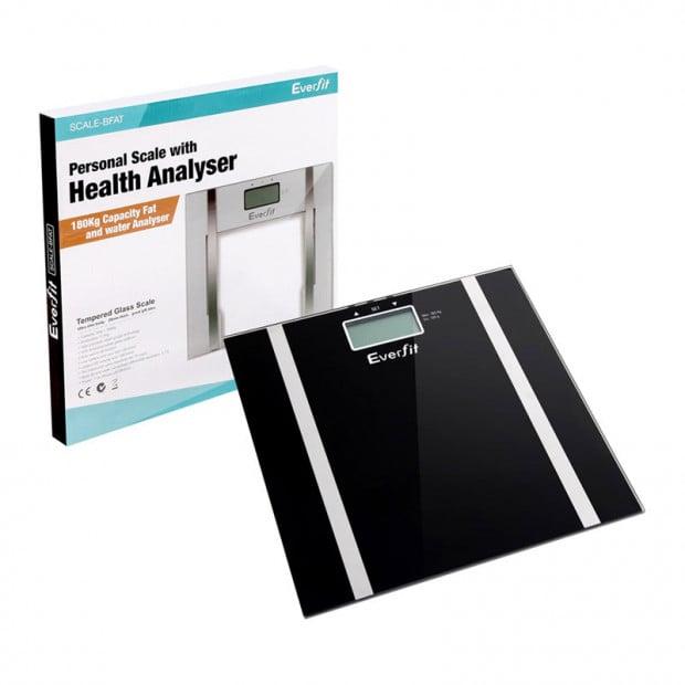 Electronic Digital Bathroom Body Fat Scales Black