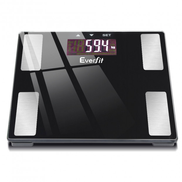 Electronic Digital Body Fat Scale Bathroom Weight Scale-Black Image 3