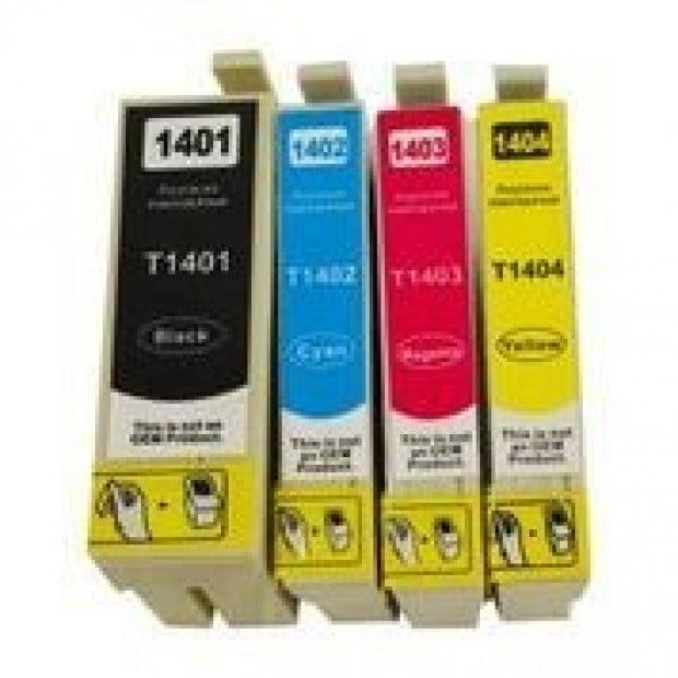 Suit Epson. T1401 Series Compatible Inkjet Cartridge Set Image 1