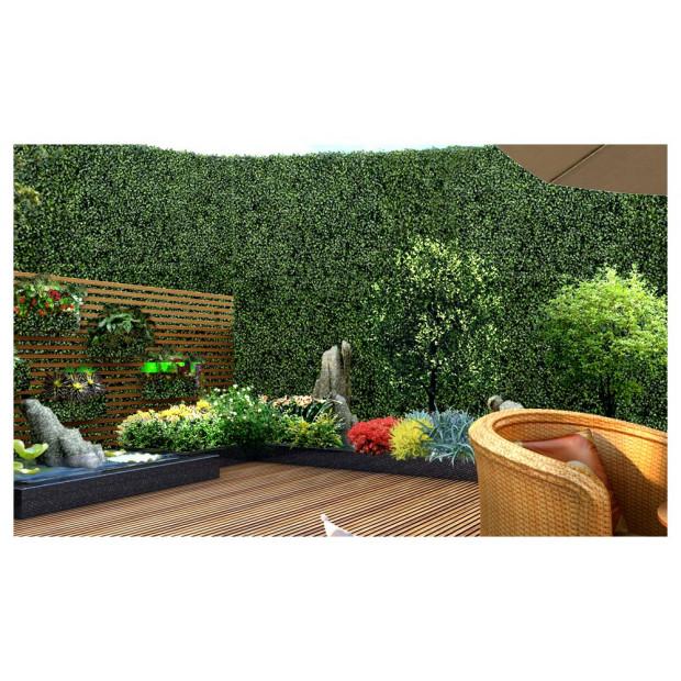 1x Artificial Boxwood Hedge Fake Vertical Garden Green Wall Mat Fence